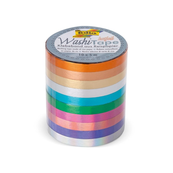Washi Tape, 10er Set, Hotfoil