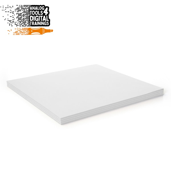 InstaCards maxi Stick-It, 100 sheets, single colors