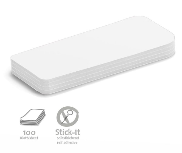 Stick-It Cards, statement, 100 sheets, single colors